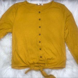Mustard long sleeve shirt 💛